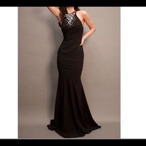 Zac Posen Red Carpet black gown embellished